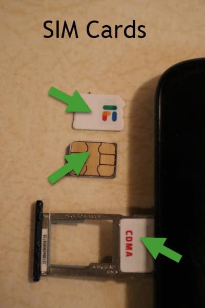 Example SIM cards