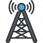 cell phone tower illustration