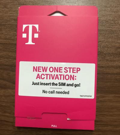 T-Mobile Connect SIM kit