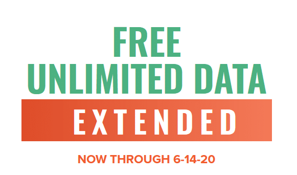Image showing that Mint's unlimited data offer has been extended