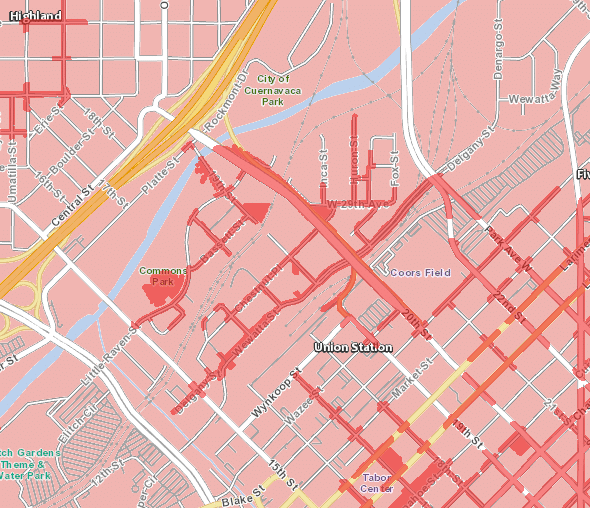 Downtown Denver 5G coverage map