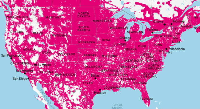 Cell Phone Coverage Map Florida Best Cell Phone Coverage   Maps Compared | Coverage Critic