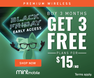 Mint Mobile promotional image for the pre-Black Friday deal
