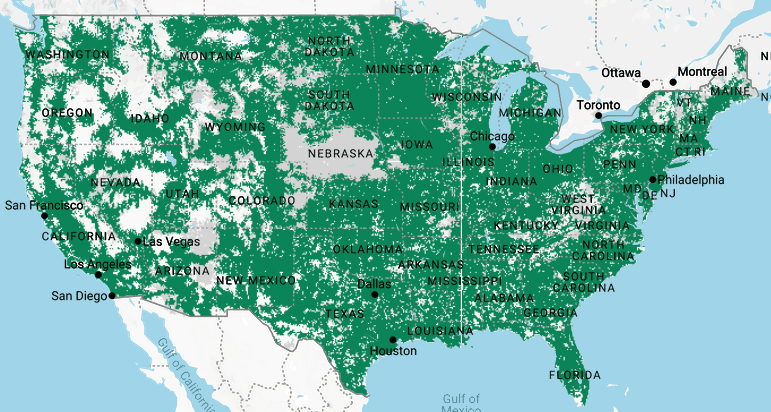 Tello coverage map