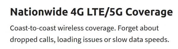 5G content screenshot