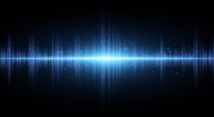 radio wave abstract